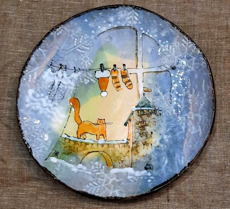 Сувенирная тарелка с Кремлем Великого Новгорода
