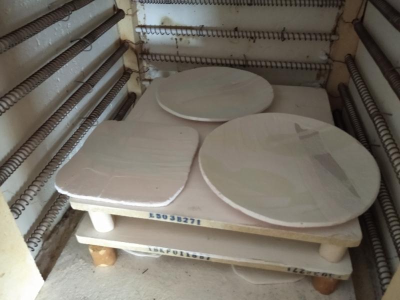 Размещение керамики в печи