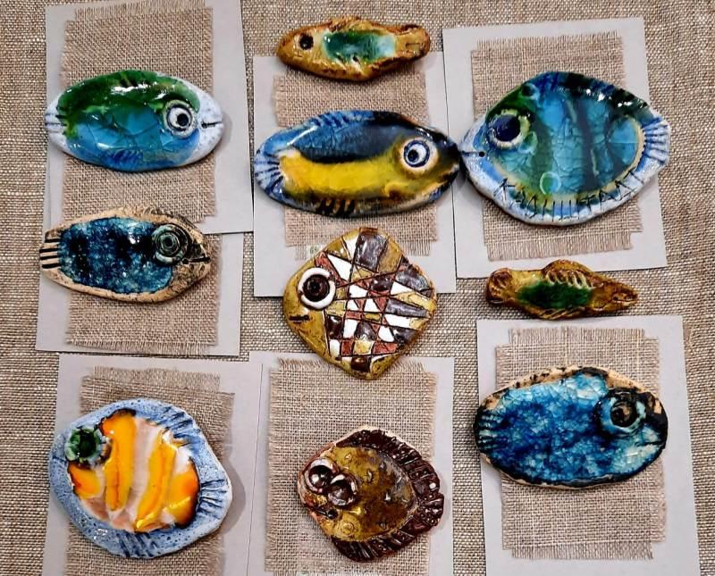Броши в виде рыб