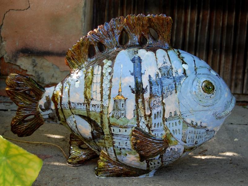 Скульптура покрытая глазурью