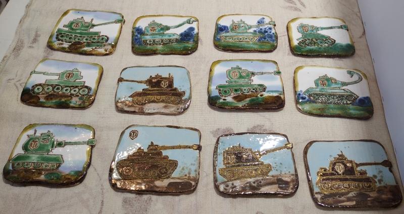 Готовые мини панно с танками