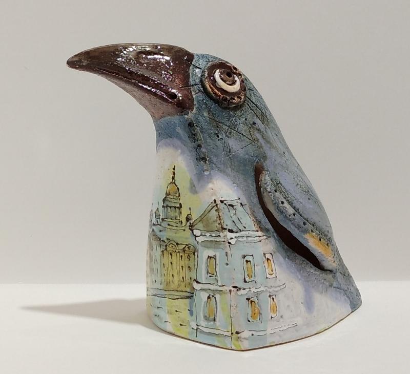 Ворона из керамики