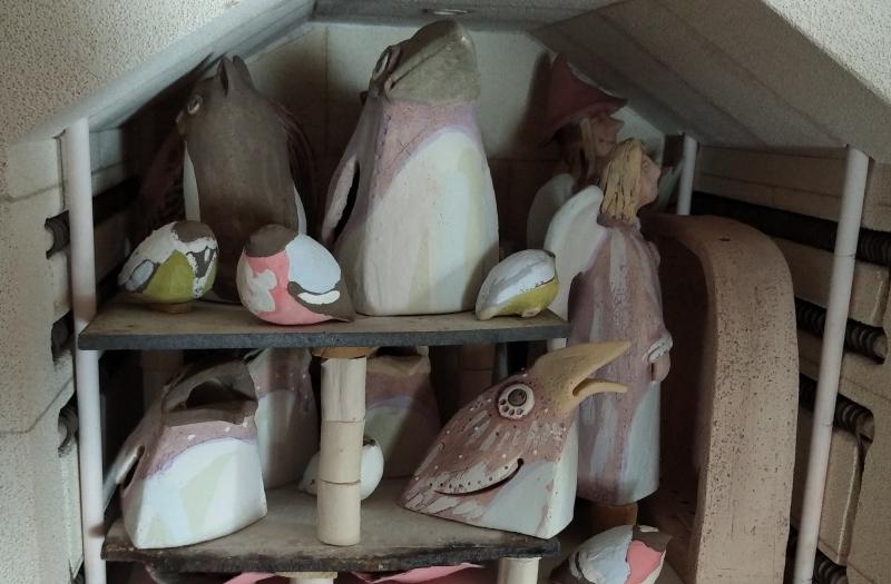 Размещение скульптуры в муфельной печи