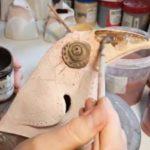 Роспись керамической вороны