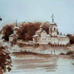 Церковь рисунок