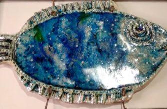 """Панно из керамики """"Рыба"""""""