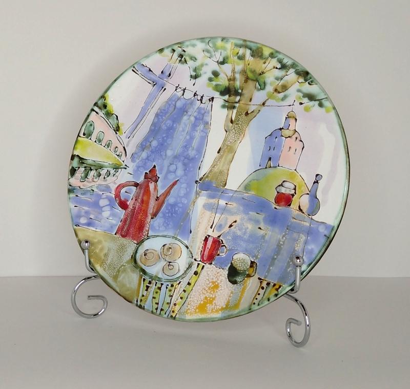 Декоративная тарелка с натюрмортом