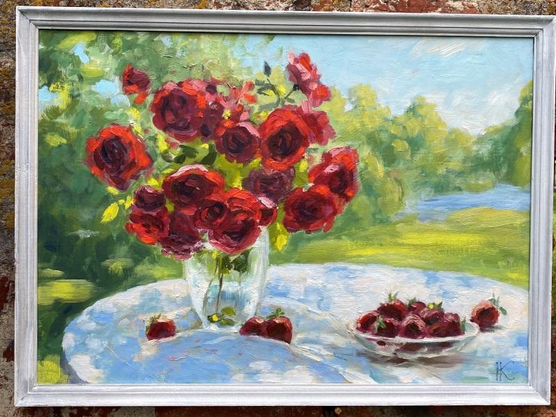 "Картина ""Цветы на столе"""