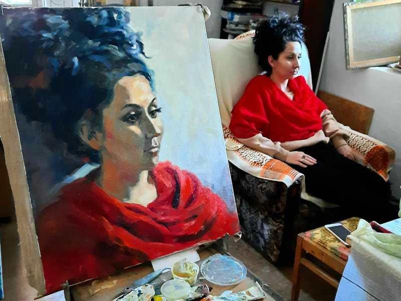 Девушка на портрете