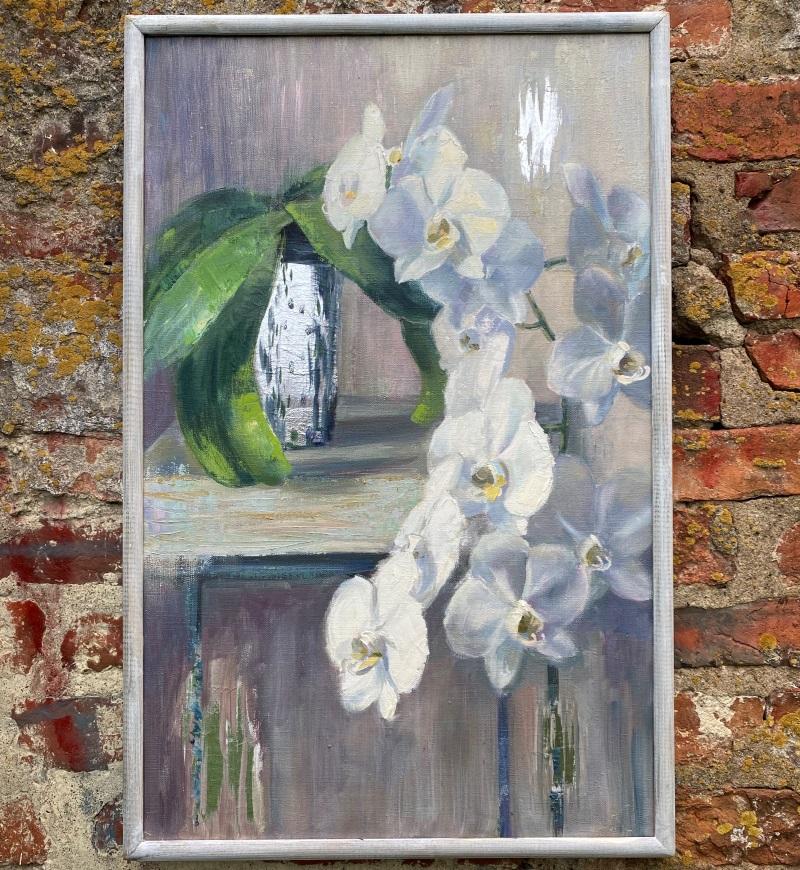 """Картина """"Орхидея"""" покрытая поталью"""