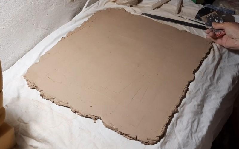 Пласт шамотной глины